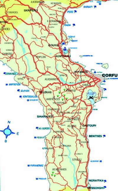 Korfu Mitte Die Region Mesis Andis Korfu Page