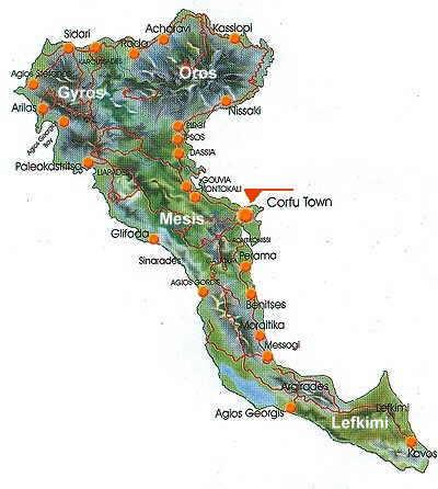 Korfu Karte Ein Uberblick Der Regionen Interessanten Orte